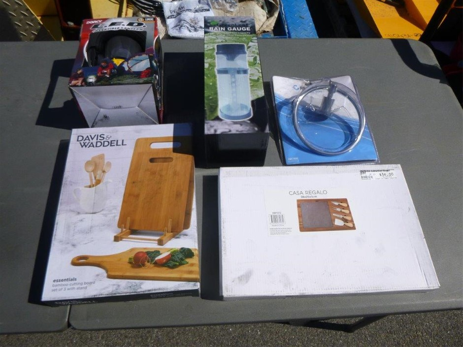 Assorted Outdoor Products - Cutting Board, Outdoor Light