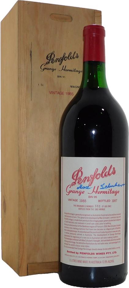 Penfolds Bin 95 Grange Hermitage 1985 (1x 1.5L, Signed by Max Schubert), SA