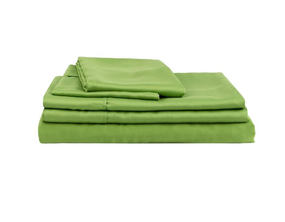 Natural Home Bamboo Sheet Set King Bed GREEN