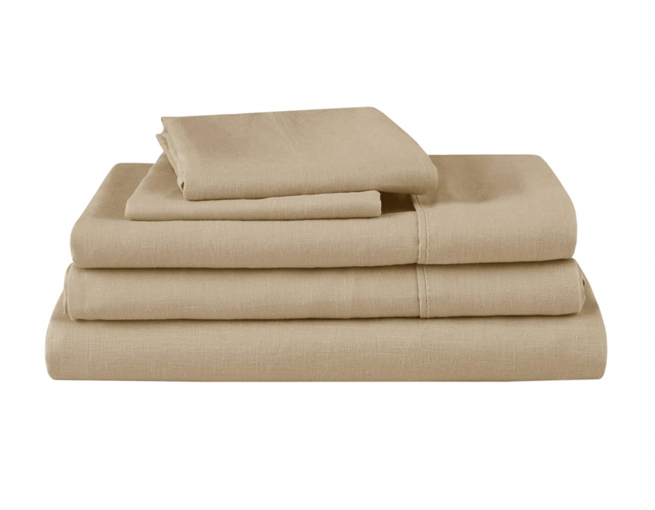 Natural Home Linen Sheet Set King Bed HAZENLUT