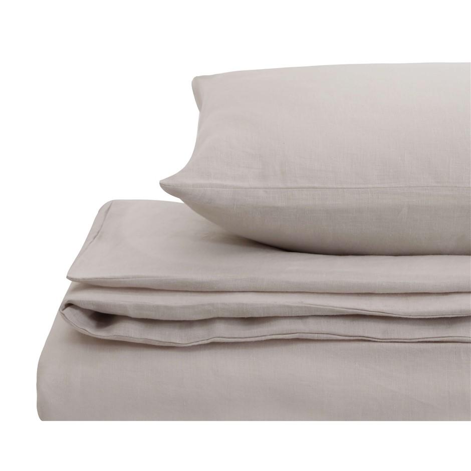 Natural Home Linen Quilt Cover Set Queen Bed LINEN
