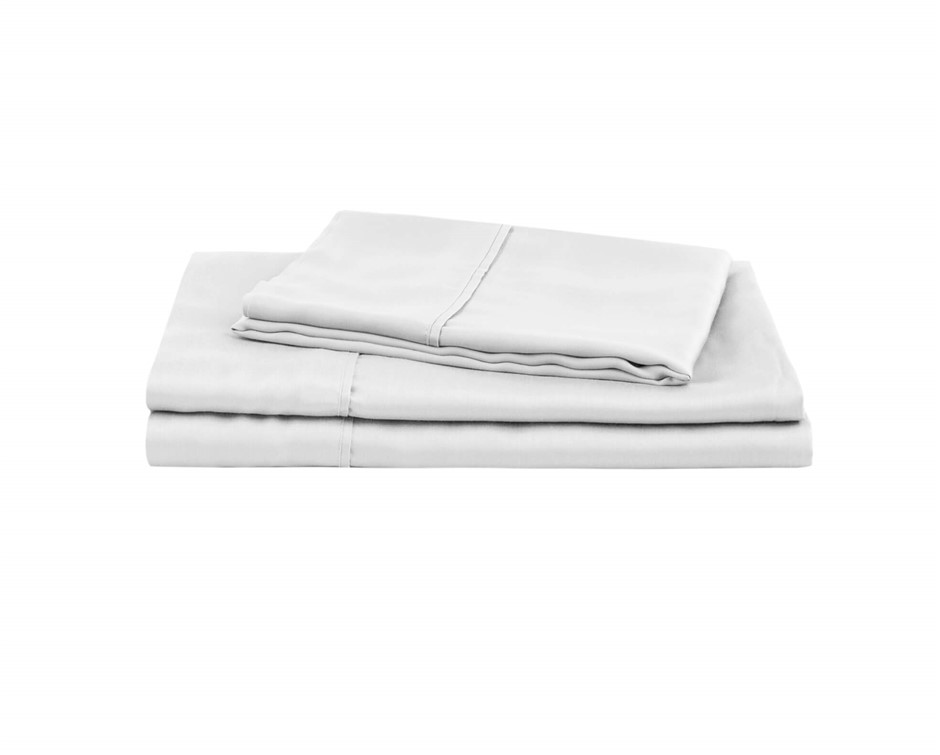 Natural Home Tencel Sheet Set Queen Bed WHITE