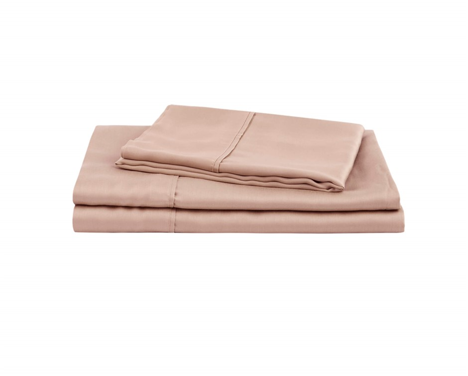 Natural Home Tencel Sheet Set Queen Bed HAZELNUT