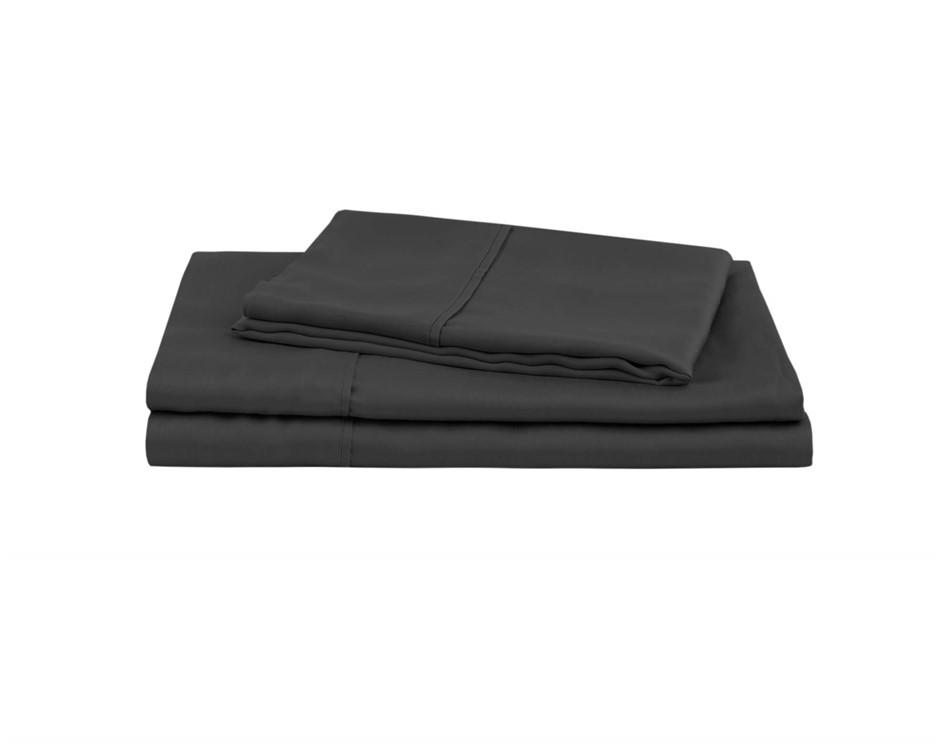 Natural Home Tencel Sheet Set King Single Bed CHARCOAL