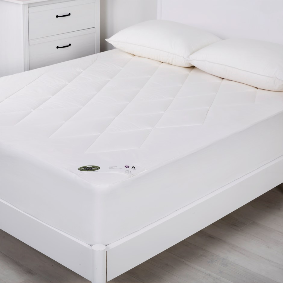 Wooltara Luxury Washable Cotton Japara Wool Rich Mattress Topper Double Bed