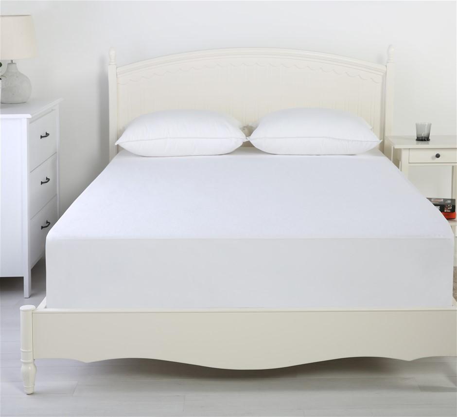 Dreamker Reversible Cotton Waterproof Mattress Protector King Bed