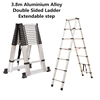 3.8m Aluminium Alloy Double Sided Ladder Extendable step (Pooraka, SA)