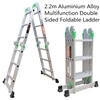 2.2m Alloy Multifunction Double Sided Foldable Ladder (Pooraka, SA)