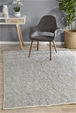 Large Grey Handmade Silky Finish Scandi Flatwoven Rug - 280X190cm