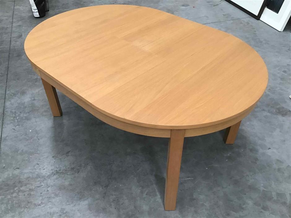 Circular Timber Extension Dining Table