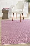 Large Pink Handmade Cotton & Jute Diamond Rug - 280X190cm