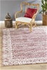 Extra Large Rose Red Transitional Jacquard Woven Rug - 320X230cm