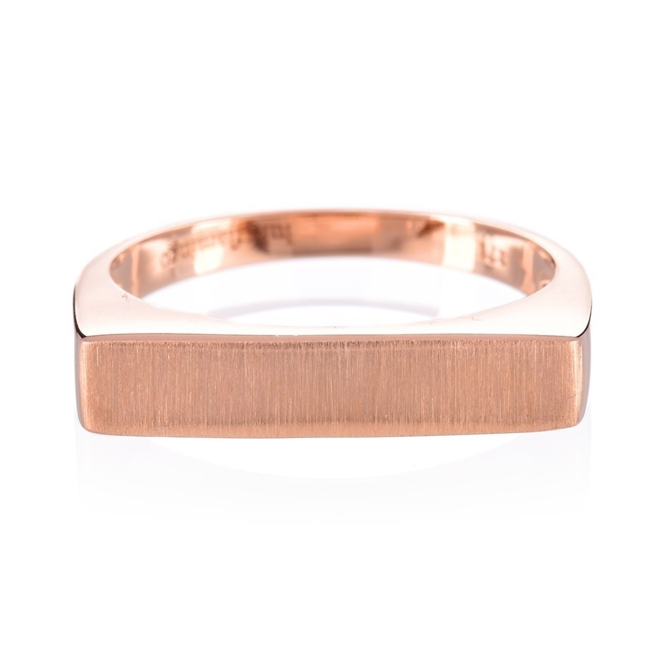 9ct solid rose gold ring