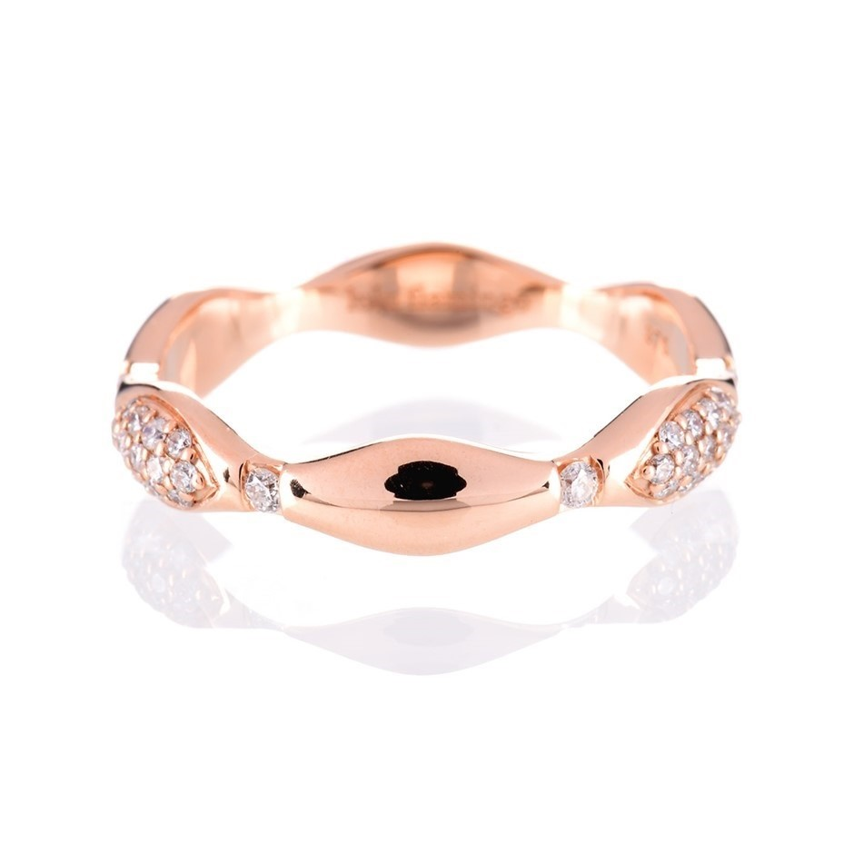 Solid rose gold and diamond ring 0.35ct TDW