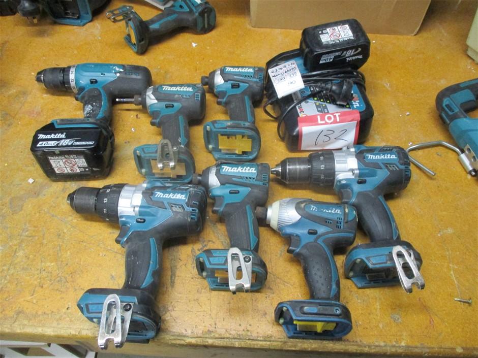 7x Makita 18v Hand Held Tools