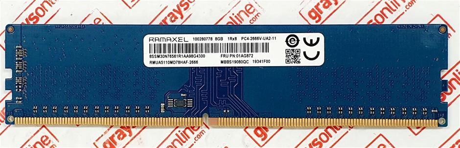 RAMAXEL 8GB PC4-2666V DDR4 288pin Desktop Memory Module