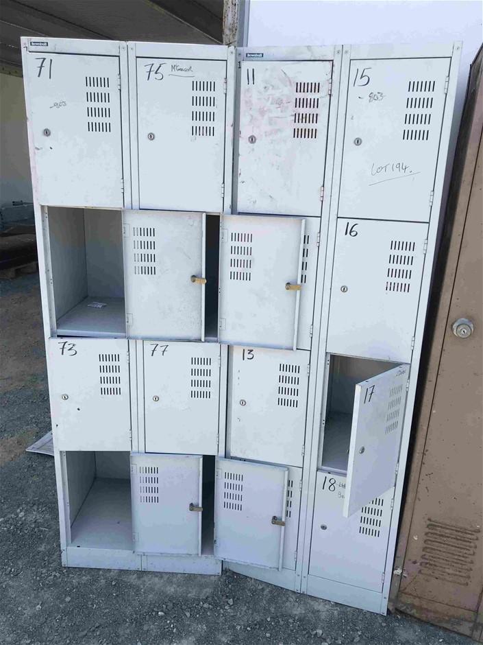 2x 8 Door, Brownbuilt -Banks of Lockers