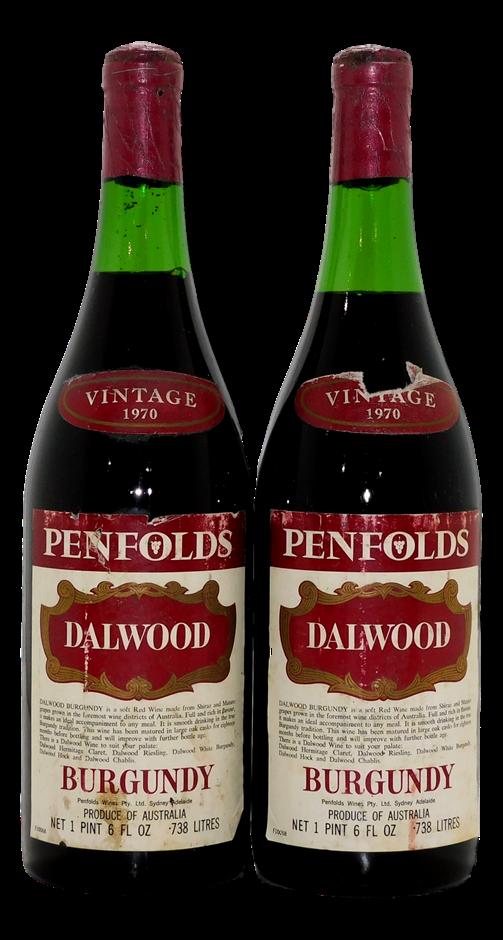 Penfolds Dalwood Burgundy Shiraz 1970 (2x 1PT 6FL OZ), Hunter Valley