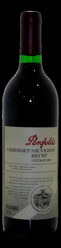 Penfolds Cabernet Sauvignon Bin 707 1998 (1 x750mL)