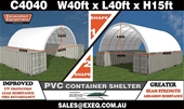 Unused 2020 40ft x 40ft Container Shelters - Melbourne