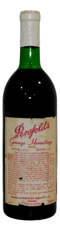 Penfolds Bin 95 Grange Hermitage 1976 (1x 750mL) SA.