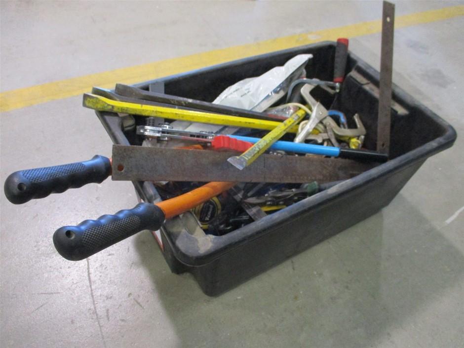 Tub of Various Manual Hand Tools