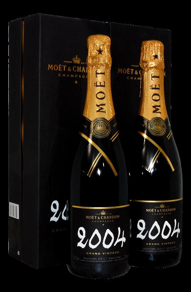 Moet & Chandon Grand Vintage Champagne 2004 (2x 750mL)