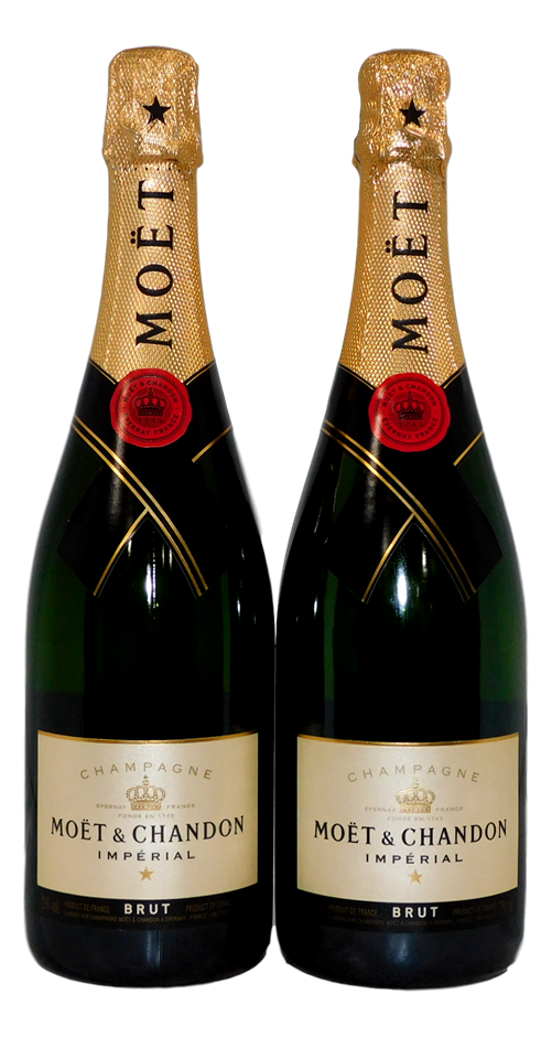Moet & Chandon Imperial Brut Champagne NV (2x 750mL)