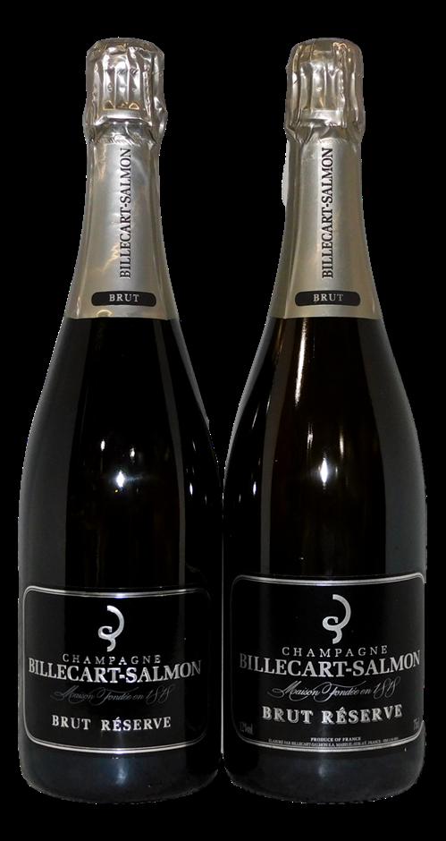 Billecart-Salmon Brut Reserve Champagne NV (2x 750mL), France. Cork