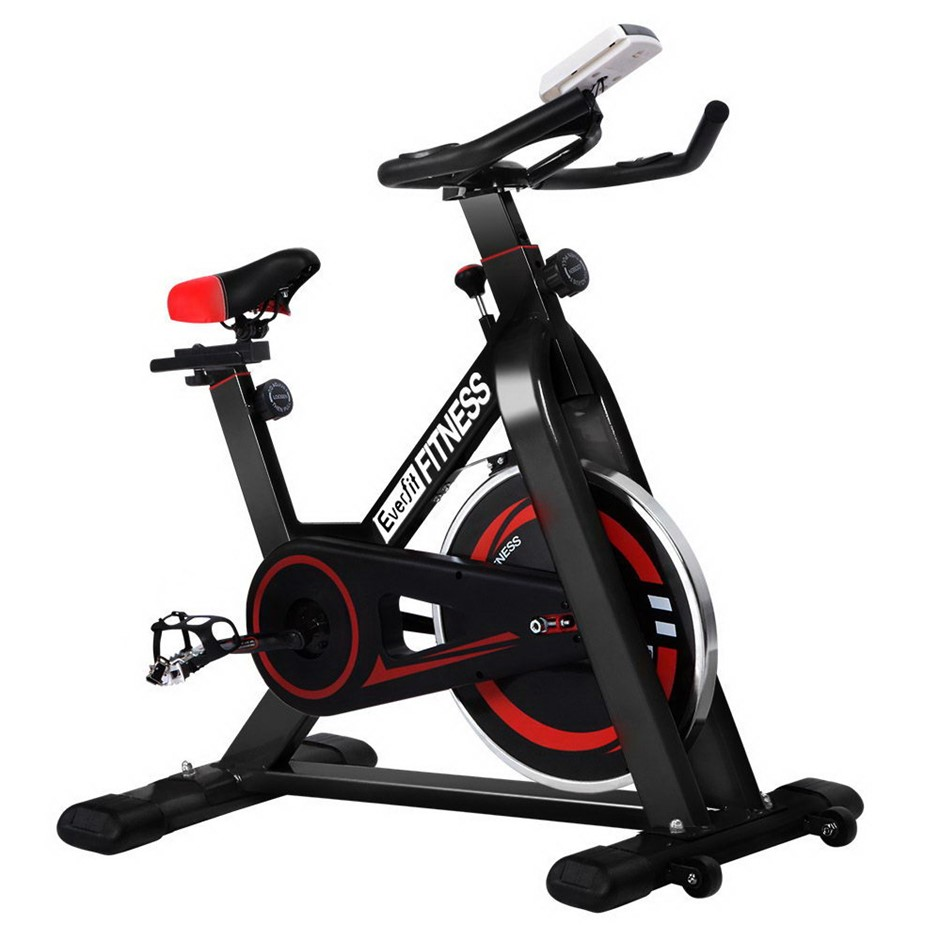 Everfit Spin Exercise Bike Cycling Fitness Home Workout Gym Black