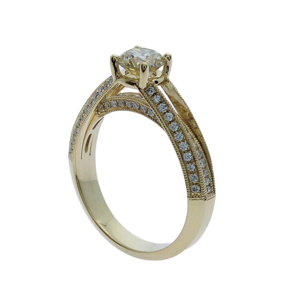 18ct Yellow Gold, 1.21ct Diamond Engagement Ring