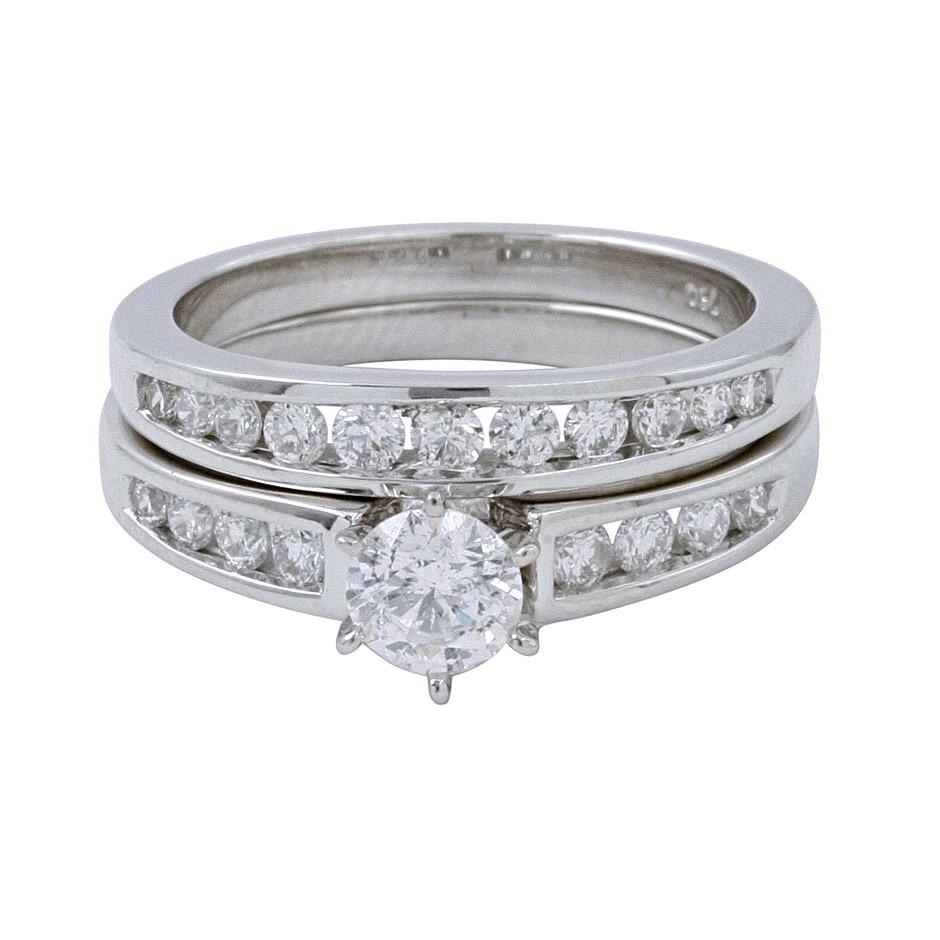 18ct White Gold, 0.70ct Diamond Engagement Ring