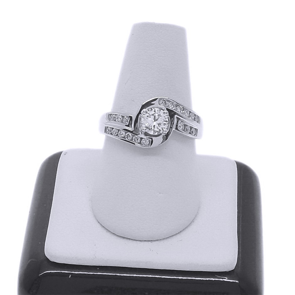 18ct White Gold, 0.71ct Diamond Engagement Ring