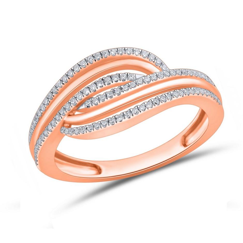 9ct Rose Gold, 0.14ct Diamond Ring