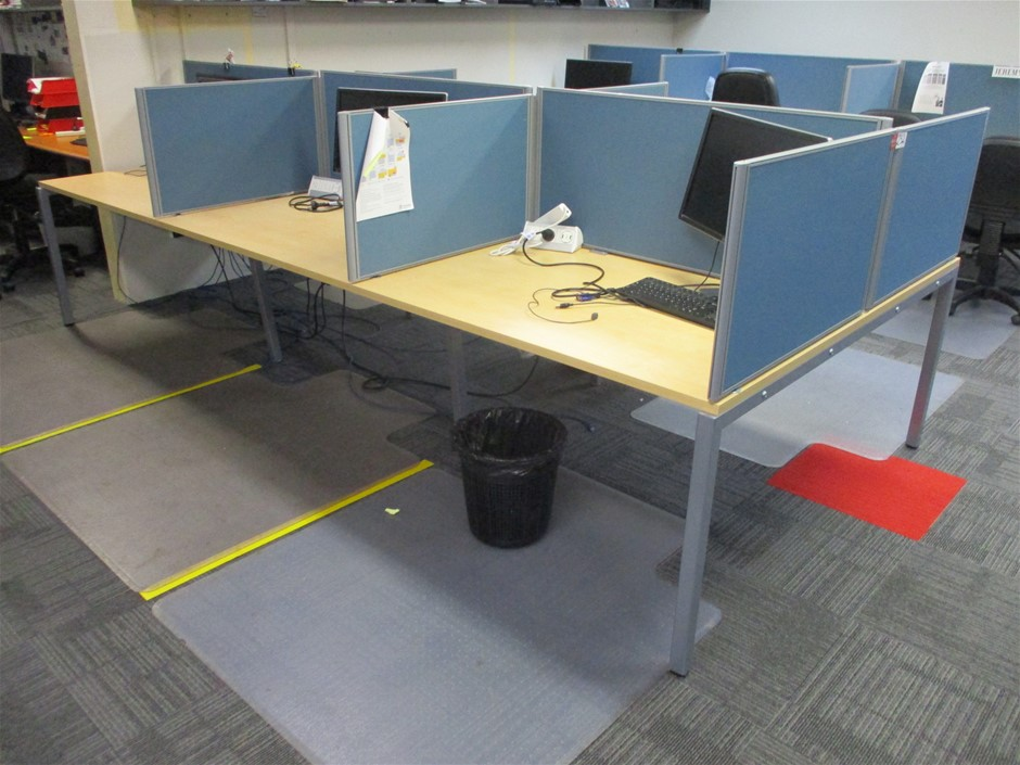 6 Bay Office Desk System