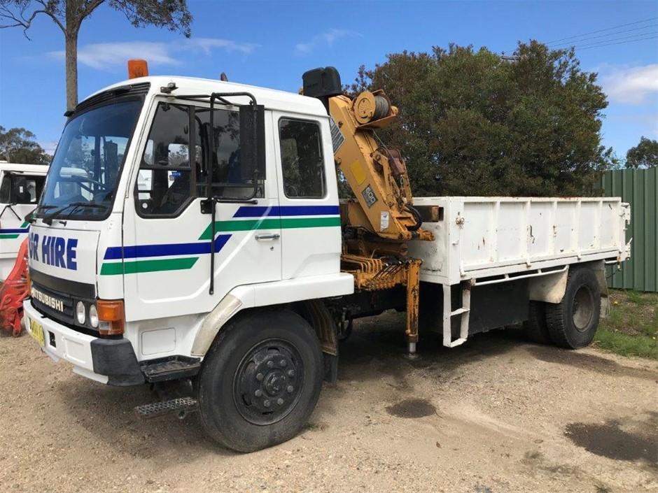 1992 Mitsubishi FK457 Crane Truck