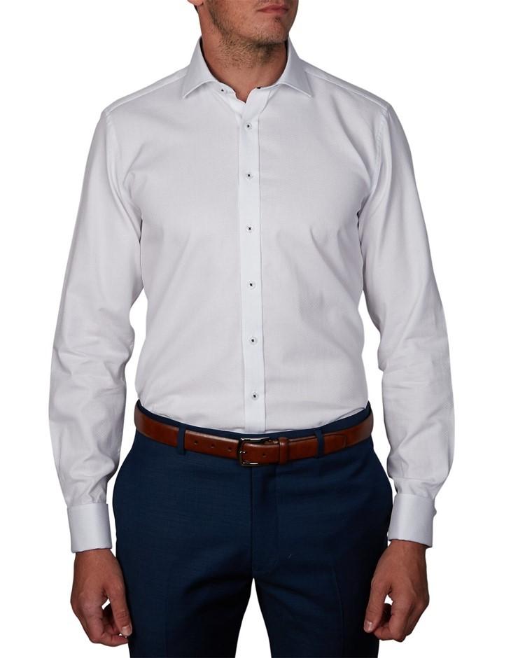GEOFFREY BEENE Damon Dobby Shirt. Size 41, Colour: White. 100% Cotton. Buye