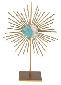 Turquoise Sunburst Table Top Decor. (SN: