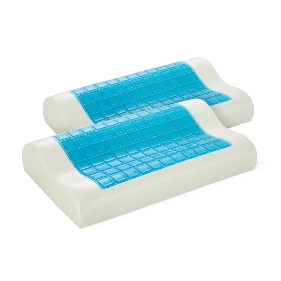 Royal Comfort - Gel Memory Foam Pillow Contour - Twin Pack