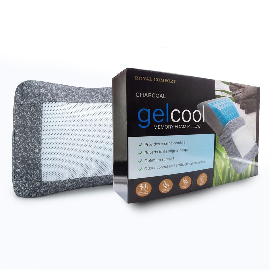 Royal Comfort Charcoal Gelcool Memory Foam Pillow