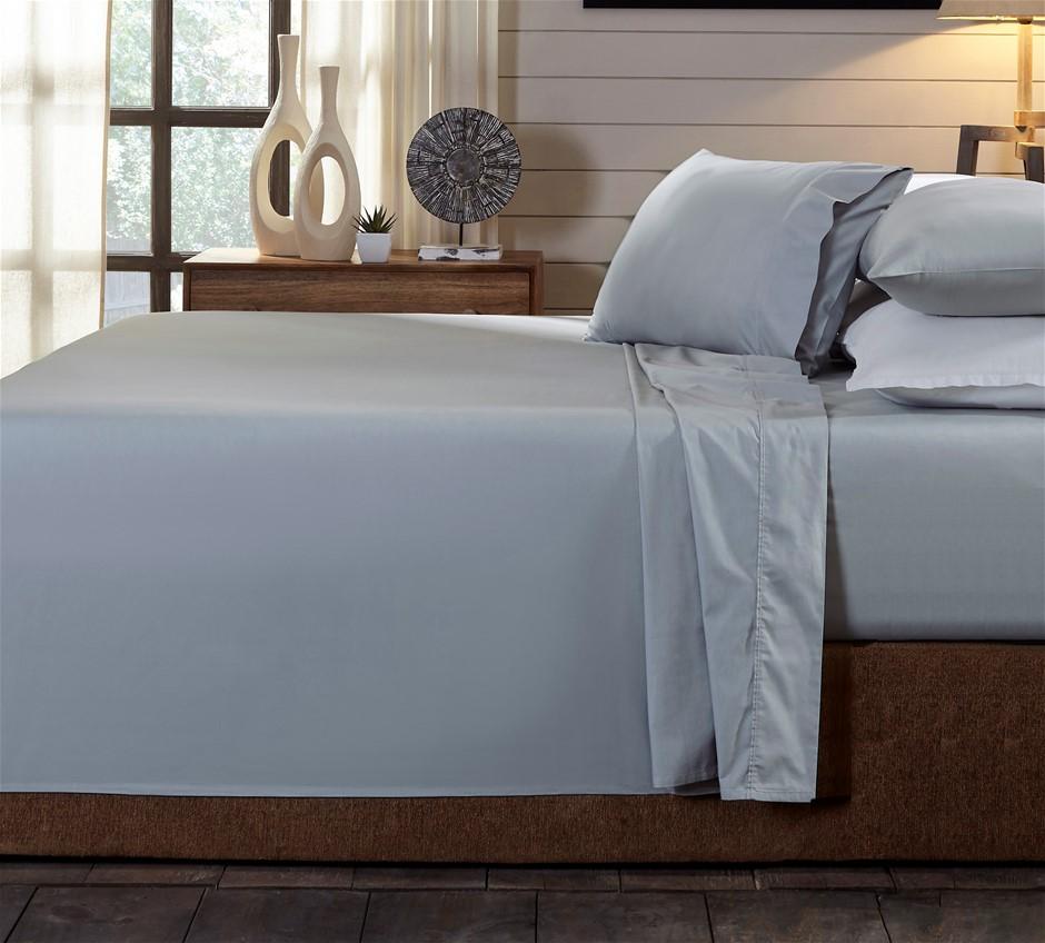 Royal Comfort 250TC 100% Organic Cotton 4 Piece Sheet Set Queen Graphite