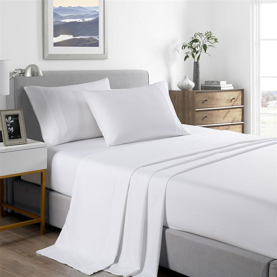 Royal Comfort Bamboo Cooling 2000TC Sheet Set - Double-White