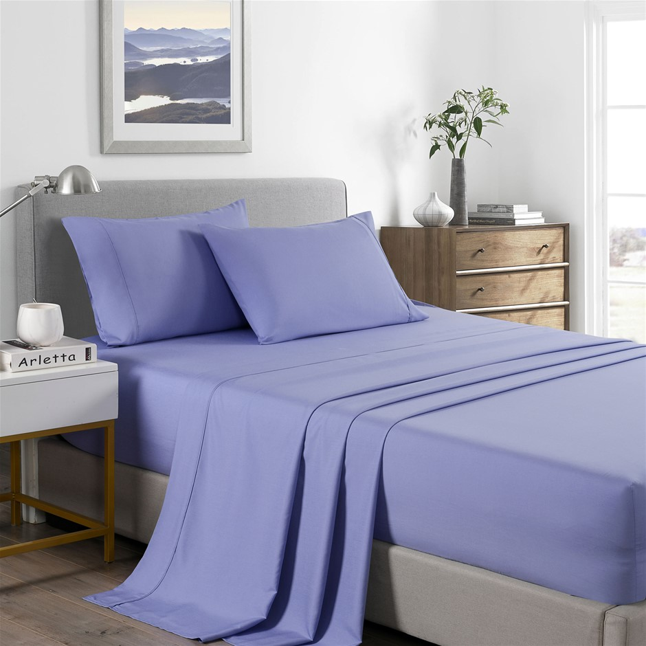 Royal Comfort Bamboo Cooling 2000TC Sheet Set - King-Mid Blue
