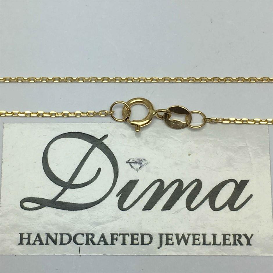 9 Karat Yellow Gold, 1.13G Chain Necklace