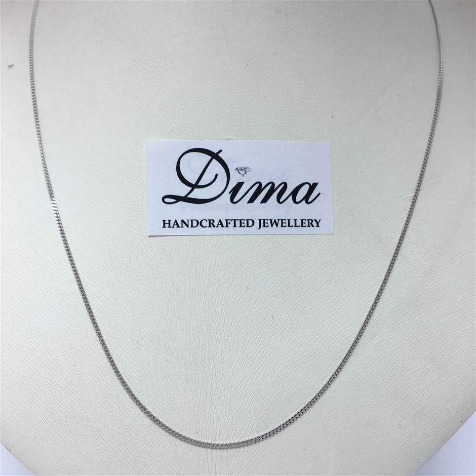 9 Karat White Gold, 1.20G Chain Necklace