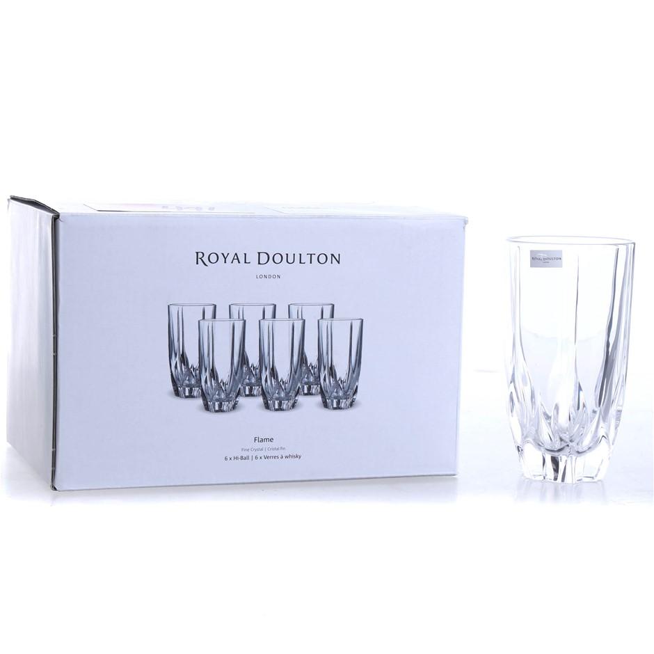 5 x Royal Daulton Flame Tumbler Drinking Glasses. (SN:CC66711) (276080-14)