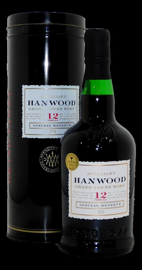 McWilliam's Hanwood Special Reserve 12YO Grand Tawny Port (1x 750mL). Cork
