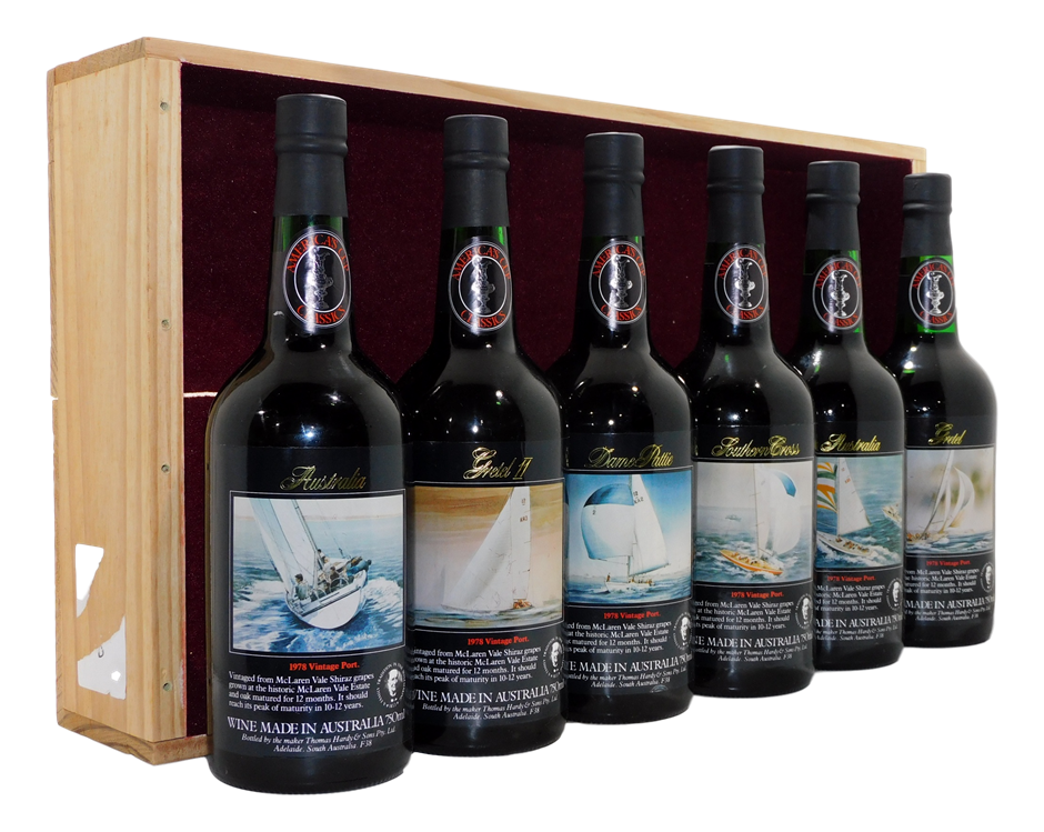 Hardys Americas Cup Classics Tawny Port Collection Pack 1978 (6x 750mL), SA