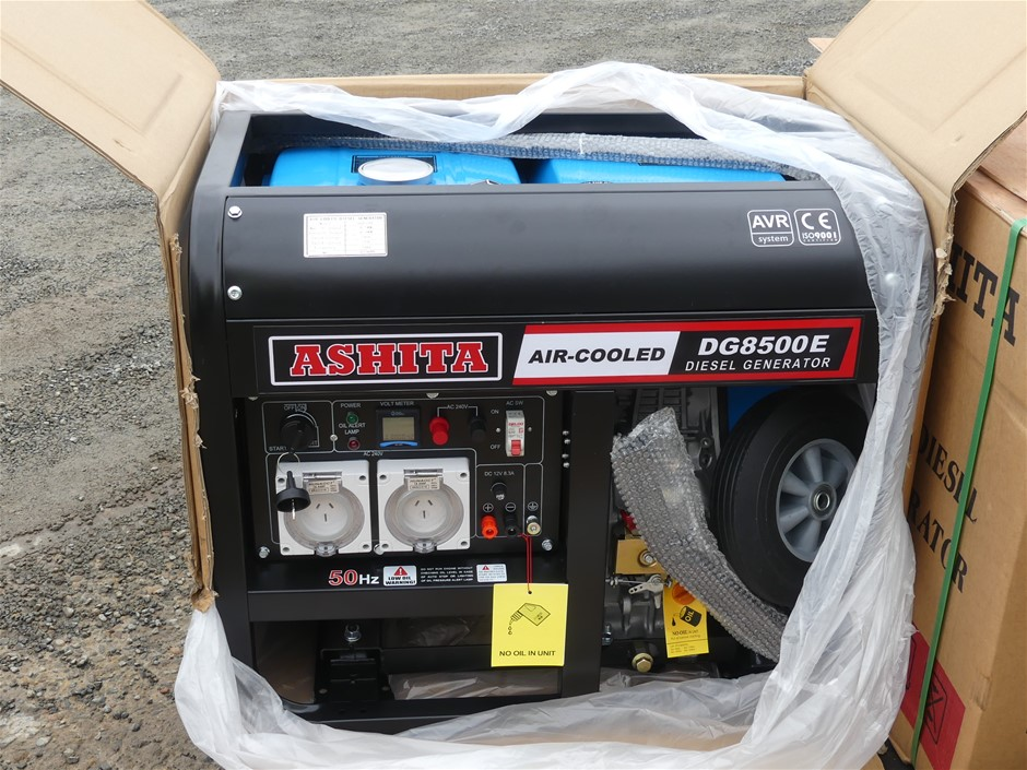 Unused Ashita DG8500E Power Generator 6.5 KW Max Output