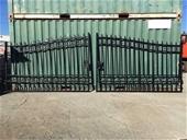 2020 Unused Wrought Iron Style Gates